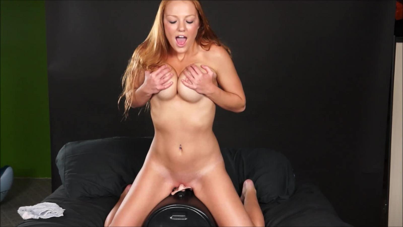 Hot Busty Brunette Mia Masturbate On Sybian