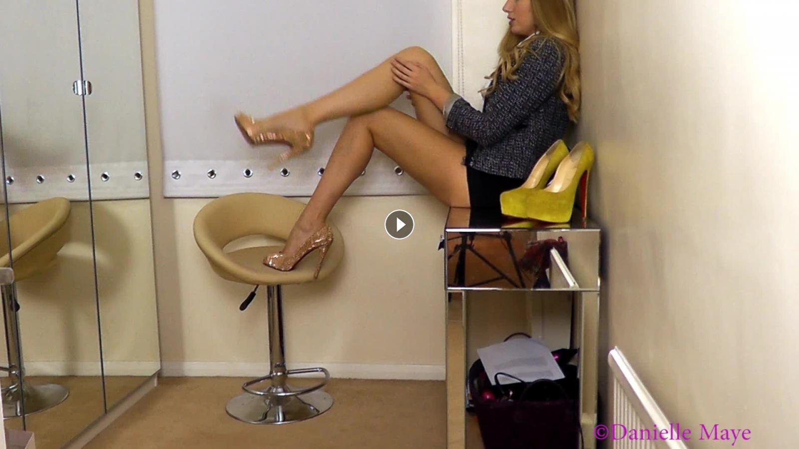 danielle maye xxx heels leg joi