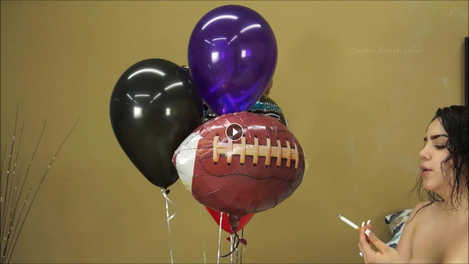 balloon videos Smoking fetish