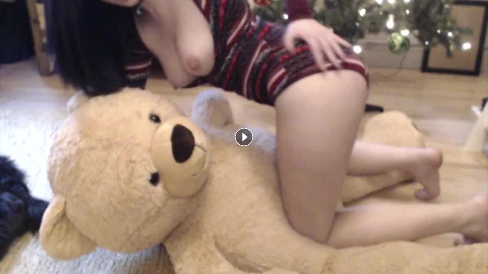 Naked teens teddy bear humping ass licking